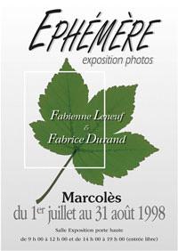 Affiche Expo Photo Marcoles 1998