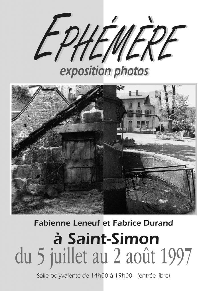 Affiche Expo Photo Saint Simon 1997
