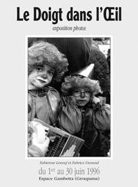 Affiche expo Le doigt dans l'oeil 1996