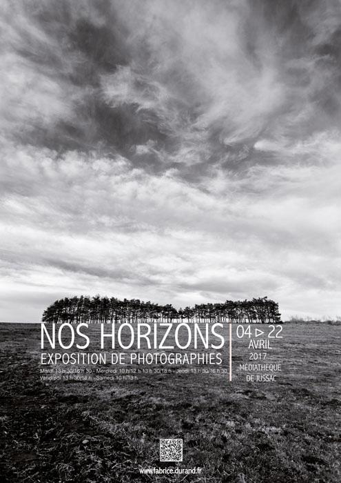 Affiche exposition photo Nos horizons jussac 2017
