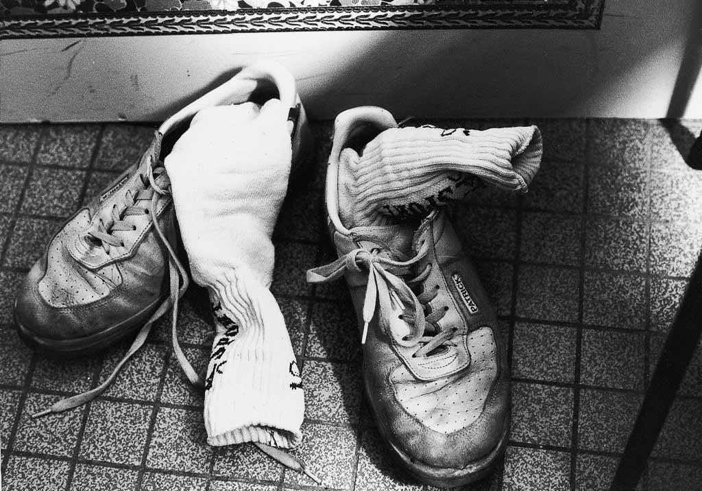Vieilles chaussures de sport