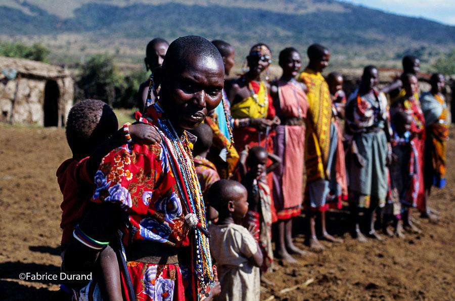 Accueil village Masai Kenya