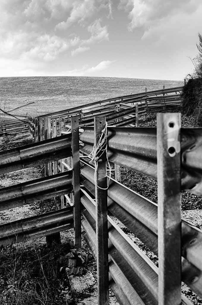 Mur de barrière dans la campagne Cantalienne