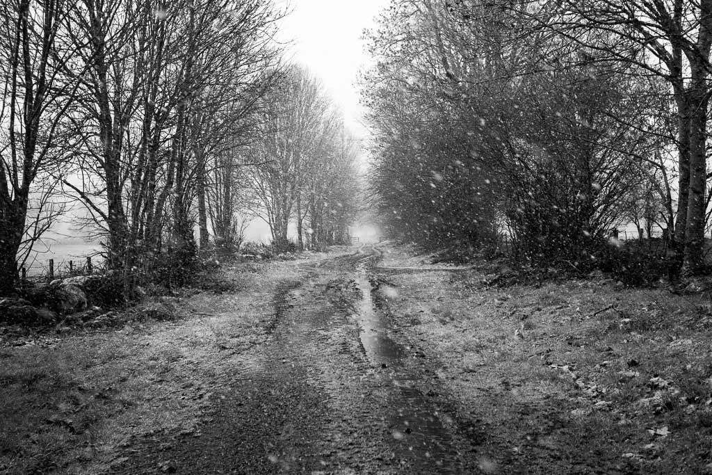 Tempête de neige Jussac Cantal