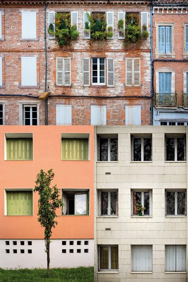 Montage 3 photos de façade avec des végétaux La Rochelle