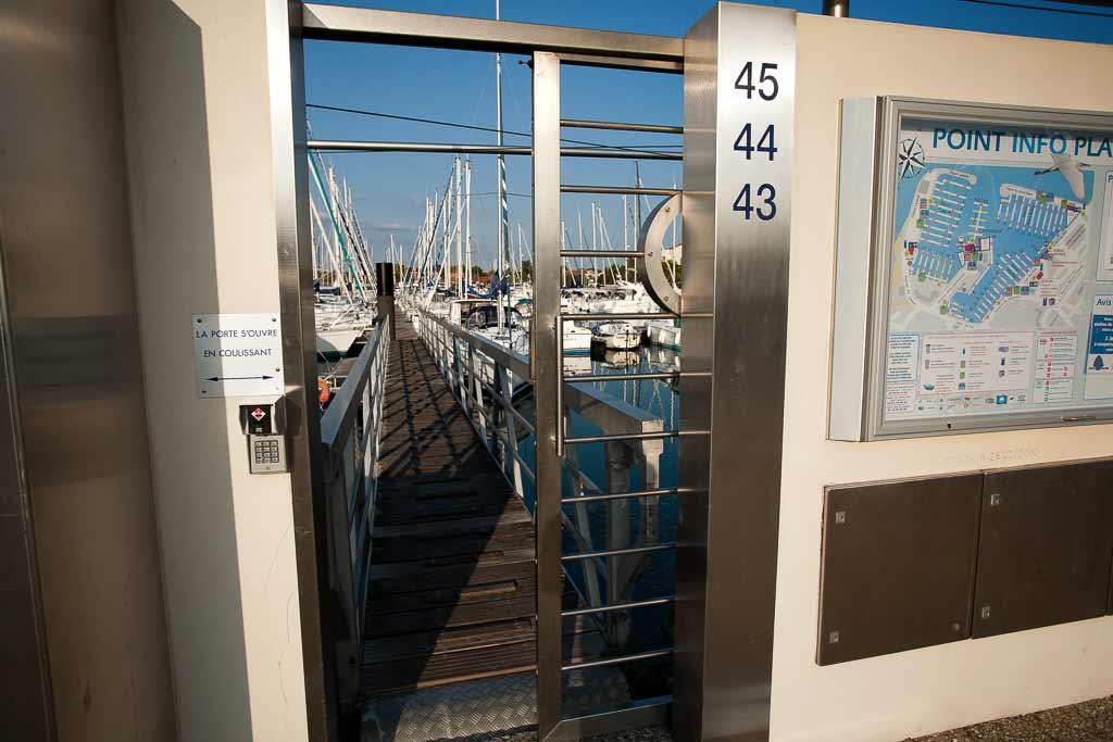 Portier électrique port des minimes La Rochelle