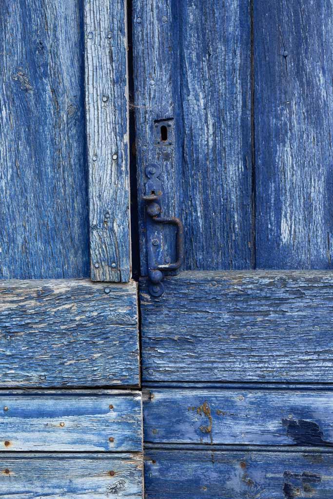 Vieille porte Bleu
