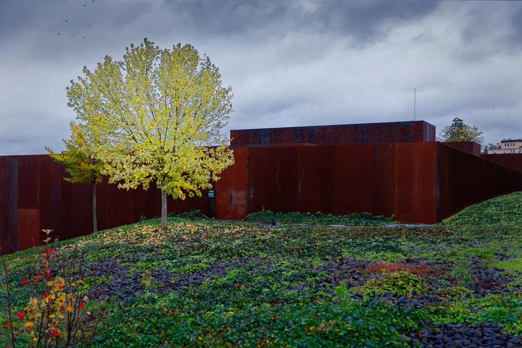 Arbre au couleur d'automne devant le Musée Soulage Rodez