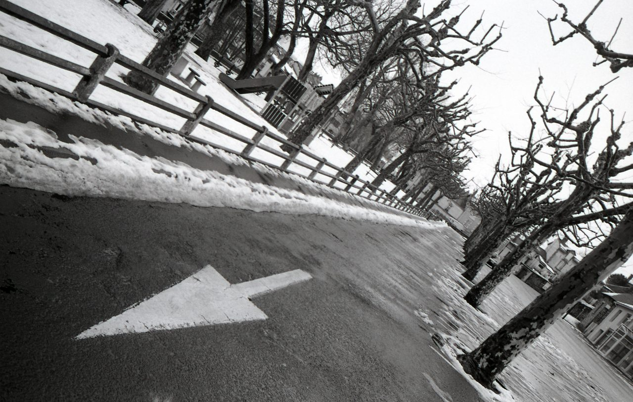 Flèche et neige bord de jordanne Aurillac