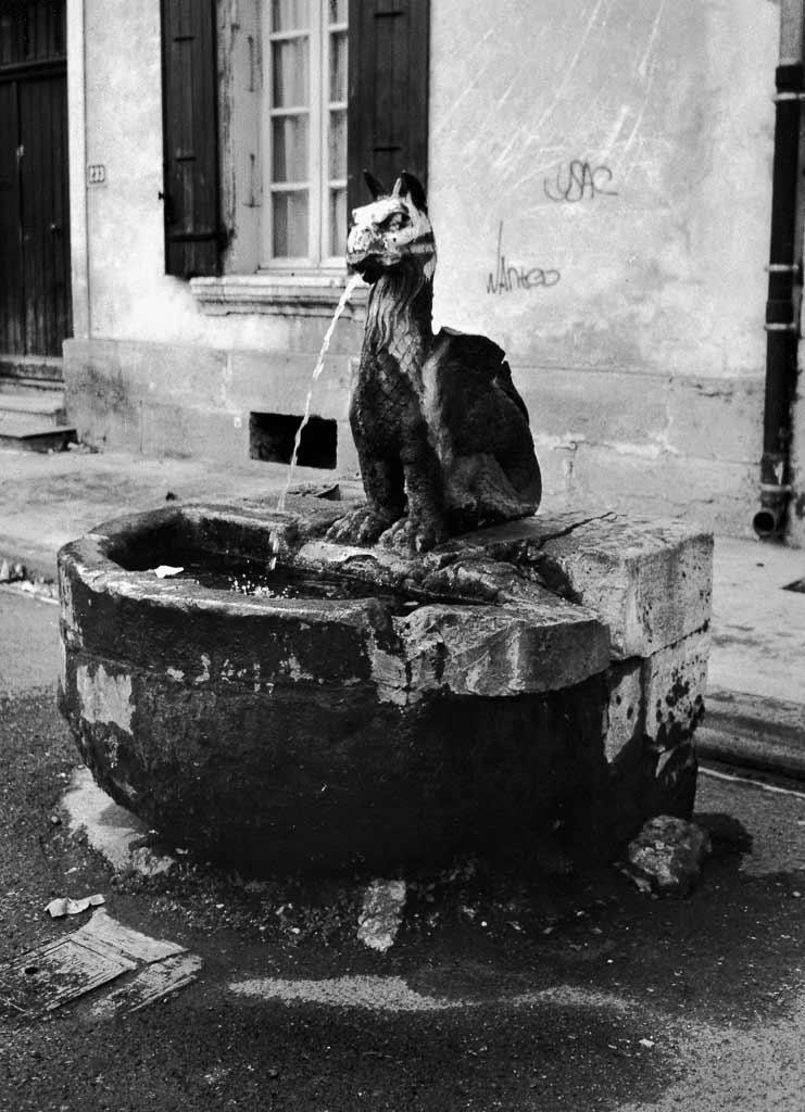 Fontaine romaine à tête de griffon Orange