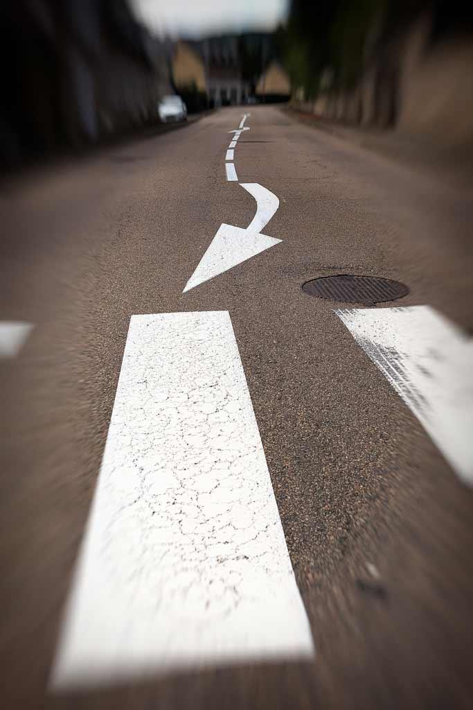 peinture signalétique dans la rue
